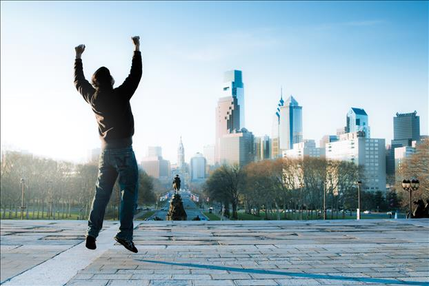 For decades, tourists (and locals) have recreated Rocky Balboa's legendary run up the 72 steps of the Philadelphia Museum of Art, finishing with a triumphant fists-in-the-air wave.