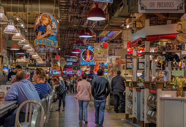 This indoor foodie paradise is a one-stop shop for everything from local produce and meats to artisanal cheeses and desserts. The public space also provides open seating where customers can enjoy meals from more than 30 restaurants. While the market is open seven days a week, the Amish vendors, a huge draw for visitors and locals, sell their goods Tuesday through Saturday.